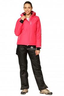 Купить оптом костюм горнолыжный женский розового цвета 01812R в интернет магазине MTFORCE.RU