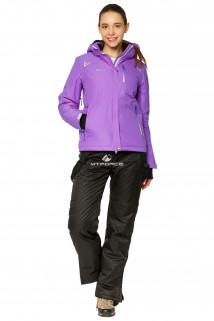 Купить оптом костюм горнолыжный женский фиолетового цвета 01812F в интернет магазине MTFORCE.RU