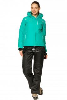 Купить оптом костюм горнолыжный женский зеленого цвета 01812Z в интернет магазине MTFORCE.RU