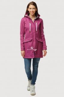 Купить оптом ветровку парку softshell мужскую осень весна фиолетового цвета 1814-1F в интернет магазине MTFORCE.RU