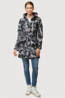 Купить оптом ветровку парку softshell мужскую осень весна серого цвета 1814Sr в интернет магазине MTFORCE.RU