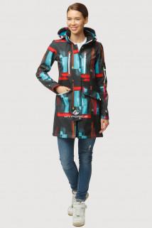 Купить оптом ветровку парку softshell мужскую осень весна голубого цвета 1814G в интернет магазине MTFORCE.RU
