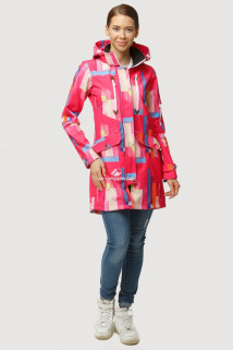 Купить оптом ветровку парку softshell мужскую осень весна красного цвета 1814Kr в интернет магазине MTFORCE.RU