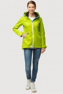 Купить оптом ветровку softshell женскую осень весна салатового цвета 1815Sl в интернет магазине MTFORCE.RU