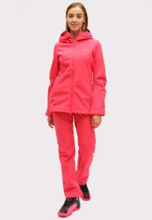 Купить оптом костюм женский softshell розового цвета 01816-1R в интернет магазине MTFORCE.RU