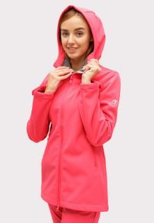 Купить оптом ветровку softshell женская розового цвета 1816-1R в интернет магазине MTFORCE.RU