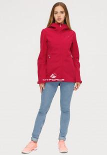 Купить оптом ветровку softshell женская бордового цвета 1816-1Bo в интернет магазине MTFORCE.RU