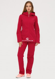 Купить оптом костюм женский softshell бордового цвета 01816-1Bo в интернет магазине MTFORCE.RU