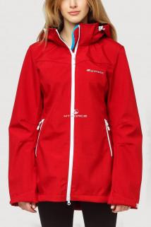 Купить оптом ветровку softshell большого размера женская красного цвета 1816Kr в интернет магазине MTFORCE.RU