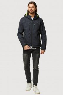 Купить оптом ветровку softshell мужскую осень весна черного цвета 1817Ch в интернет магазине MTFORCE.RU