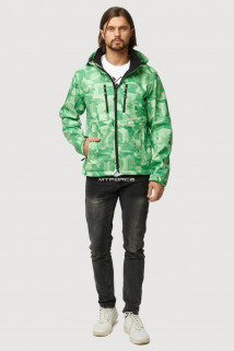 Купить оптом ветровку softshell мужскую осень весна зеленого цвета 1817Z в интернет магазине MTFORCE.RU