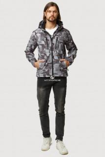 Купить оптом ветровку softshell мужскую осень весна серого цвета 1817Sr в интернет магазине MTFORCE.RU