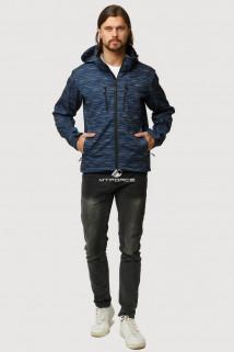 Купить оптом ветровку softshell мужскую осень весна темно-синего цвета 1817TS в интернет магазине MTFORCE.RU