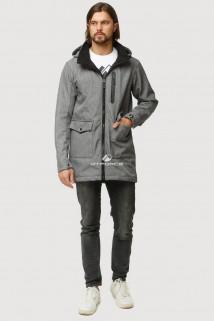 Купить оптом ветровку парку softshell мужскую осень весна светло-серого цвета 1818SS в интернет магазине MTFORCE.RU