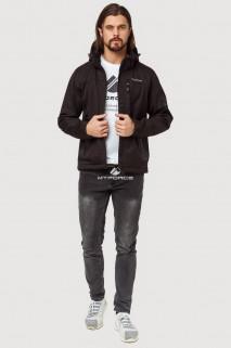Купить оптом ветровку softshell мужскую осень весна черного цвета 1819Ch в интернет магазине MTFORCE.RU