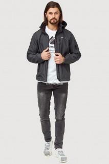 Купить оптом ветровку softshell мужскую осень весна темно-серого цвета 1819TC в интернет магазине MTFORCE.RU