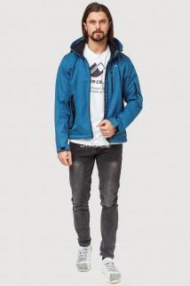 Купить оптом ветровку softshell мужскую осень весна синего цвета 1819S в интернет магазине MTFORCE.RU