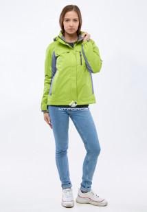 Купить оптом женскую осеннюю весеннюю спортивную куртку фисташкового цвета в интернет магазине MTFORCE 1820FT