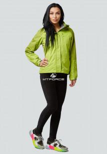 Купить оптом женскую осеннюю весеннюю спортивную куртку фисташкового цвета в интернет магазине MTFORCE 1822FT