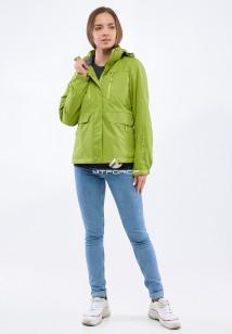 Купить оптом женскую осеннюю весеннюю спортивную куртку фисташкового цвета в интернет магазине MTFORCE 1825FT