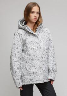 Купить оптом куртку горнолыжную женская большого размера белого цвета 1830-1Bl в интернет магазине MTFORCE.RU