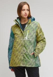 Купить оптом куртку горнолыжную женская большого размера салатового цвета 1830-2Sl в интернет магазине MTFORCE.RU