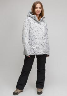 Купить оптом костюм горнолыжный женский большого размера белого цвета 01830-1Bl в интернет магазине MTFORCE.RU