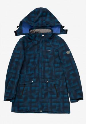 Купить оптом ветровку softshell женская большого размера темно-синего цвета 1833TS в интернет магазине MTFORCE.RU