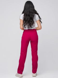 Купить оптом брюки женские из ткани softshell бордового цвета 1851Bo в интернет магазине MTFORCE.RU
