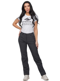 Интернет магазин MTFORCE.ru предлагает купить оптом брюки женские из ткани softshell темно-серого цвета 1851TC по выгодной и доступной цене с доставкой по всей России и СНГ