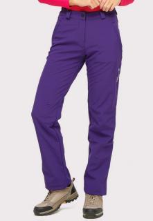 Купить оптом брюки женские большого размера из ткани softshell фиолетового цвета  1852-1F в интернет магазине MTFORCE.RU