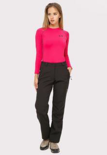 Интернет магазин MTFORCE.ru предлагает купить оптом брюки женские большого размера из ткани softshell черного цвета  1852-1Ch по выгодной и доступной цене с доставкой по всей России и СНГ