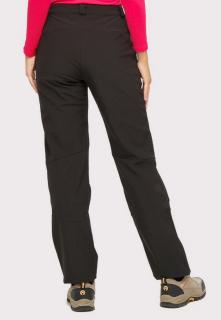 Купить оптом брюки женские большого размера из ткани softshell черного цвета  1852-1Ch в интернет магазине MTFORCE.RU