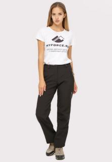 Купить оптом брюки женские из ткани softshell черного цвета  1851Ch в интернет магазине MTFORCE.RU