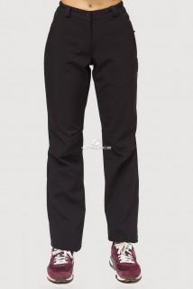 Купить оптом брюки женские большого размера из ткани softshell черного цвета  1851-1Ch в интернет магазине MTFORCE.RU
