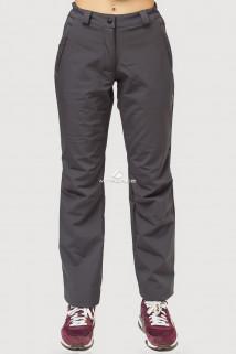 Купить оптом брюки женские из ткани softshell темно-серого цвета 1851TC в интернет магазине MTFORCE.RU