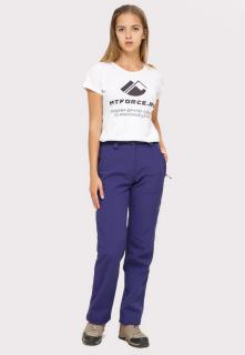 Виндстопер брюки женские осенние весенние из ткани softshell большого размера темно-фиолетового цвета купить оптом в интернет магазине MTFORCE 1851TF