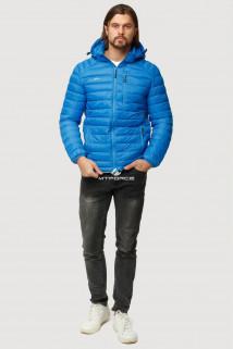 Купить оптом куртку мужскую стеганную голубого цвета 1852G в интернет магазине MTFORCE.RU