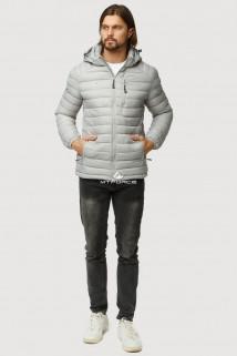 Купить оптом куртку мужскую стеганную светло-серого цвета 1852SS в интернет магазине MTFORCE.RU