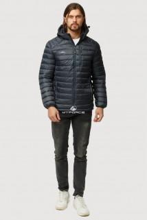 Купить оптом куртку мужскую стеганную черного цвета 1852Ch в интернет магазине MTFORCE.RU
