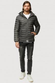 Купить оптом куртку мужскую стеганную темно-серого цвета 1852TC в интернет магазине MTFORCE.RU