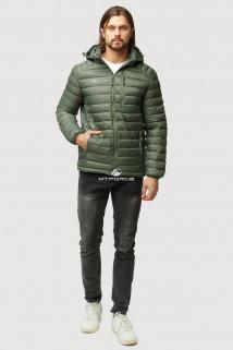 Купить оптом куртку мужскую стеганную цвета хаки 1852Kh в интернет магазине MTFORCE.RU
