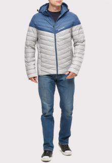 Купить оптом куртку мужскую стеганную светло-серого цвета 1853SS в интернет магазине MTFORCE.RU