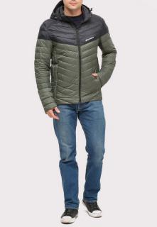 Купить оптом куртку мужскую стеганную цвета хаки 1853Kh в интернет магазине MTFORCE.RU