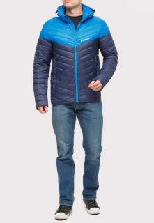 Купить оптом куртку мужскую стеганную темно-синего цвета 1853TS в интернет магазине MTFORCE.RU