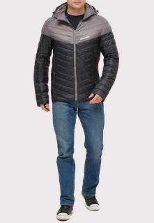 Купить оптом куртку мужскую стеганную черного цвета 1853Ch в интернет магазине MTFORCE.RU