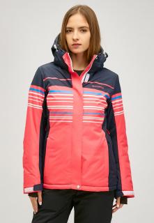 Купить оптом женскую зимнюю горнолыжную куртку розового цвета в интернет магазине MTFORCE 1856r