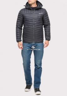 Купить оптом куртку мужскую стеганную черного цвета 1858Ch в интернет магазине MTFORCE.RU