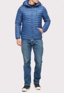 Купить оптом куртку мужскую стеганную синего цвета 1858S в интернет магазине MTFORCE.RU