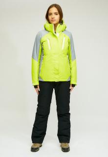 Горнолыжный костюм женский зимний желтого цвета купить оптом в интернет магазине MTFORCE 01861J
